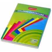 Carton A4 colorat 10 culori 100 file 230g School Office