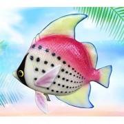 Mihaojianbing Decoraciones Fish Resina Simulación Tropical Colgante / Decoraciones De Animales Marinos Inicio / Inicio Artesanías De Decoración Escultura De Resina La naturaleza del arte. ( Color : Pink )