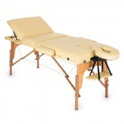 MT 500 Lettino Da Massaggio 210 cm 200 kgPieghevole Schiuma a Celle Chiuse Borsone Beige