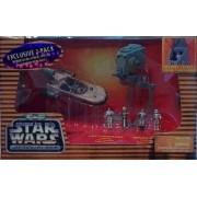 Micro Machines Star Wars Action Fleet - Luke's Landspeeder and Imperial AT-ST