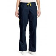 WonderWink Women's Scrubs Romeo 6 Pocket Flare Leg Pant, Navy, Large