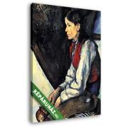 Paul Cézanne: Fiú vörös mellényben, 1888-1890 (20x25 cm, Vászonkép )