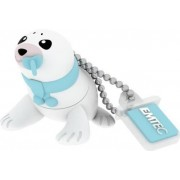 Stick USB Emtec Baby Seal ECMMD8GM334, 8GB, USB 2.0 (Albastru)