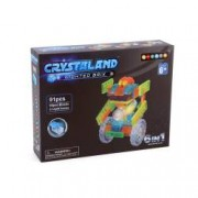 Puzzle cuburi cu LED 4 in 1 - Aeronoava Avion Nava Spatiala - 48 piese