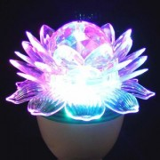 celebrations 360 Degree LED Crystal Lotus Rotating Bulb for Decoration & Disco Function. B22 Holder - 1 Pc