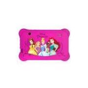 Tablet Multilaser Disney Princesas, Wi-Fi Android 4.4 Processador Quad Core 8GB Câmera 2.0MP Tela 7.0, Rosa