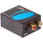 Orei DA9 Digital Optical Coax Coaxial Toslink to Analog RCA L/R Audio Converter