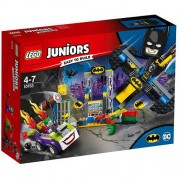 Set de constructie LEGO Juniors Atacul lui Joker in Batcave