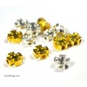 Distanțiere metal cruce rotunjite (50 buc)
