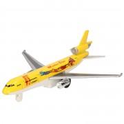 Merkloos Geel winter star vrachtvliegtuigje - Speelgoed vliegtuigen