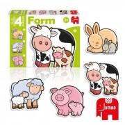 Diset 4 Puzzles Animaux Form Baby Vache