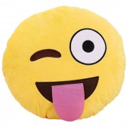 Naughty Smiley Cushion winking and taunting
