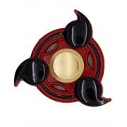 Mangekyou Naruto Inspirerad Metall Fidget Spinner - Röd