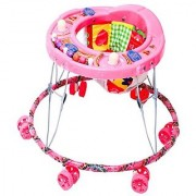 KGC Networks Kids New Imported Baby Walker with Adjustable Height Kranti pink