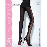 Cecilia de Rafael - Stylish patterned tights Brigitte 1550 DEN