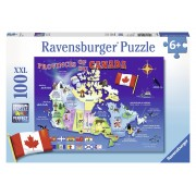 PUZZLE HARTA CANADEI, 100 PIESE