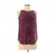Cynthia Rowley TJX Sleeveless Silk Top Purple Print Scoop Neck Tops - Used - Size X-Small