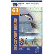 Topografische kaart - Wandelkaart 63 Discovery Clare, Kerry | Ordnance Survey Ireland