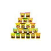 Kit Com 20 Potes De Massinha 20 Cores Play-Doh A7924 Hasbro