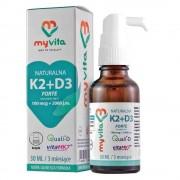 Naturalna Witamina K2 K-2 100mcg + D3 D-3 2000iu 30 Ml Myvita