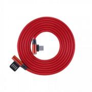 Cavo USB Angolato 90° USB A/USB-C 1.5m Rosso