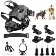 Cinturon para perros arnes pecho correa de hombro Cinturon para GoPro Hero + camara - negro