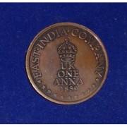 Very Rare and Old East India Company 1839 UK ONE ANNA Coin- having Ram Laxman Sita and Hanuman