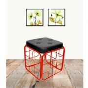 Onlineshoppee Iron Cushion Stool/Table Size(LxBxH-13x13x14) Inch