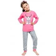 Ada karácsonyi lányka pizsama macival, rózsaszín 122