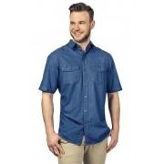 Denver Jeans Hemd Denver, halbarm, Farbe indigo, Gr.2XL