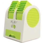 G-MTIN Mini Fan Air Cooler with Water Tray Portable Desktop Dual Bladeless Air Cooler USB super Fan