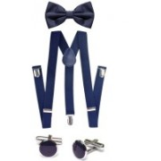 Civil Outfitters Y- Back Suspenders for Men(Blue)