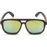 Caprio Retro Square Sunglasses(Green)