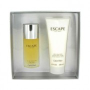 Calvin Klein Escape 3.4 oz / 100 mL Eau De Toilette Spray + 6.7 oz / 198 mL After Shave Balm Gift Set Men's Fragrance 461518