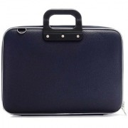 Deal Bugs Stylish Unisex Hard Shell Briefcase Laptop Bag 15 with Strap Blue