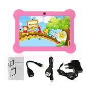 Q88 AU Plug Niños Tablet Con Pantalla Táctil De 7 Pulgadas, 512 MB De +8GB Kid Pad Con Altavoz Rosa