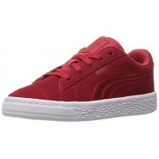PUMA Kids' Suede Classic Badge Inf Sneaker, Barbados Cherry, 5 M US Toddler