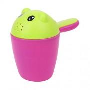 XuBa Baby Shower Spoon Cartoon Bathing Shampoo Wash Water Cup Cute Bear Washing Rinse HP