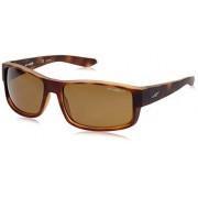 Arnette AN4224 Boxcar anteojos de sol rectangulares para hombre, Fuzzy Tortoise/Polarized Brown, 59 mm