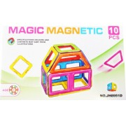 Set de constructie magnetic 3D Magnetic Magic Power 10 piese 4MG