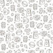 Tapet superlavabil pentru bucatarie cu design cafea, la comanda (Dimensiune ( L x H): 300 x 200 cm, Selecteaza imaginea dorita!: Ftcom-Sh-1584578683 alb- negru)
