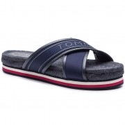 Еспадрили TOMMY HILFIGER - Colorful Tommy Flat Sandal FW0FW04159 Midnight 403