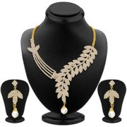 Sikka Jewels Gold Plated Gold Alloy Necklace Set For Women
