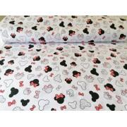 Farmer jellegű rugalmas textil fehér alapon ezüst mintás 140 cm széles