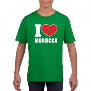 Bellatio Decorations Groen I love Marokko fan shirt kinderen