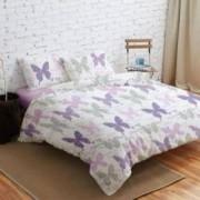 Lenjerie de pat Dubla Heinner Home VN-4BEDYX60-BTFY 4 piese Multicolora