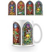 Pyramid Legend of Zelda - Stained Glass Mug