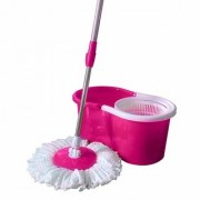 Cleaning Pink Spin Mop With Bucket(2 Refill)