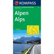 Kompass Carta N.350: Alpi 1:500.000