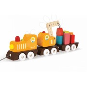 Janod tren magnetic din lemn Multi Crane Train 08089